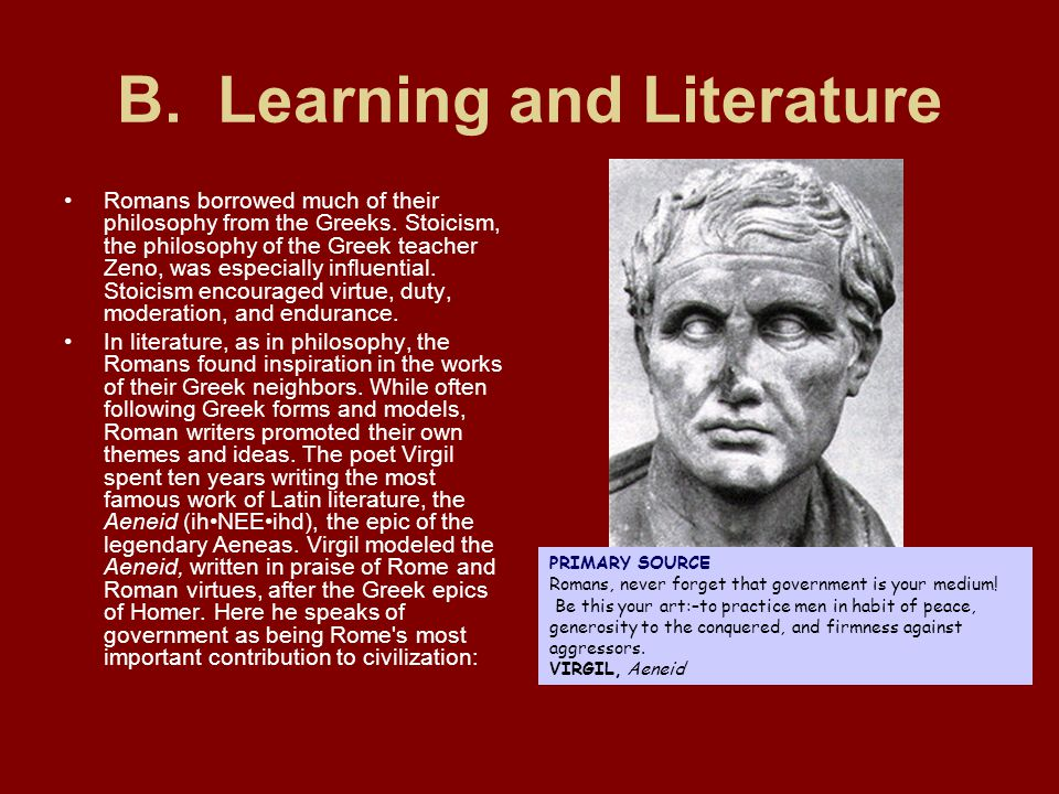 B. Learning and Literature