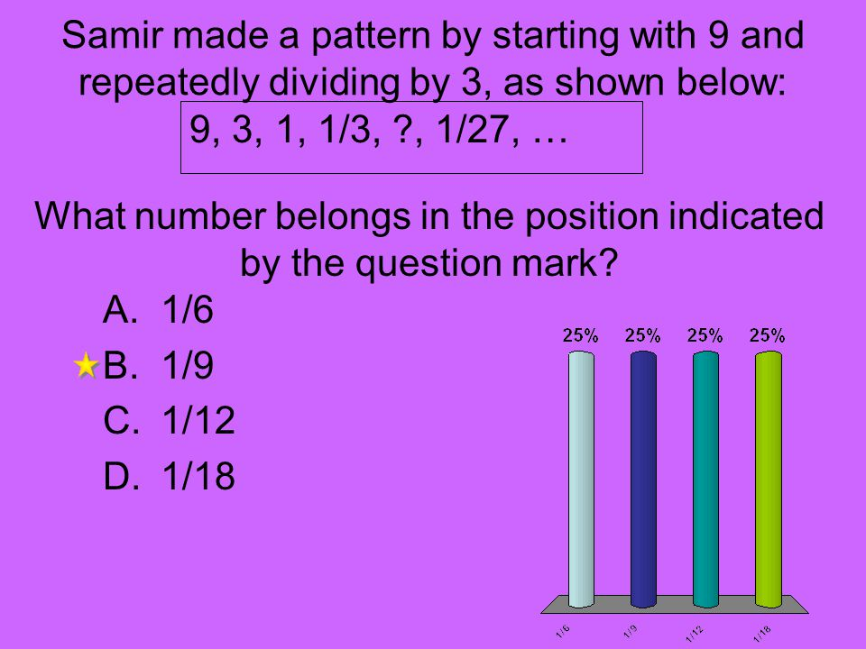 What number belongs in the position indicated by the question mark