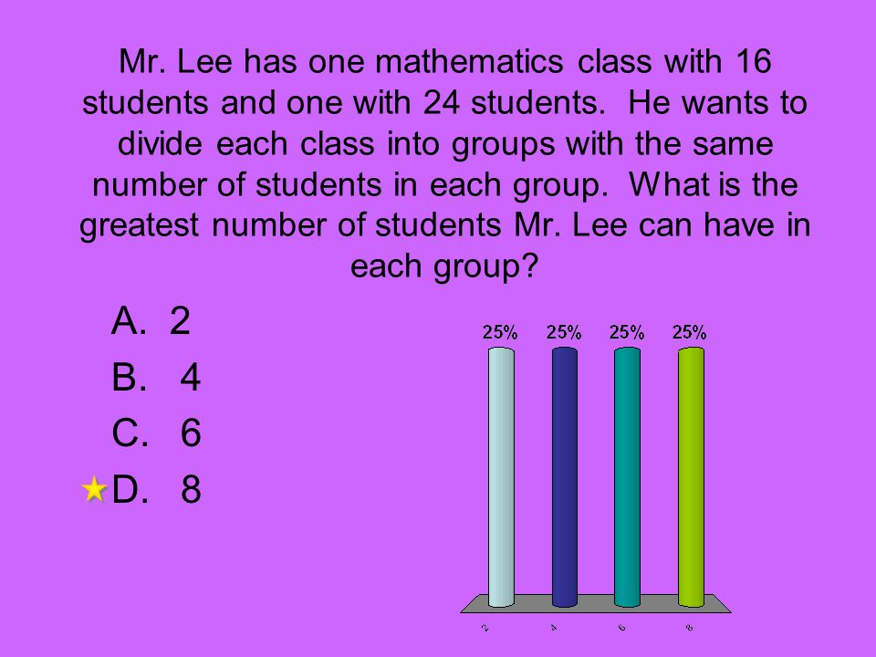 Mr. Lee has one mathematics class with 16 students and one with 24 students. He wants to divide each class into groups with the same number of students in each group. What is the greatest number of students Mr. Lee can have in each group