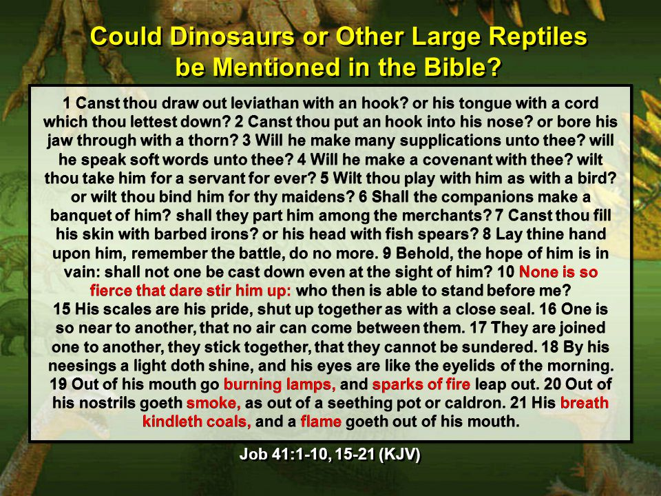Could Dinosaurs or Other Large Reptiles be Mentioned in the Bible