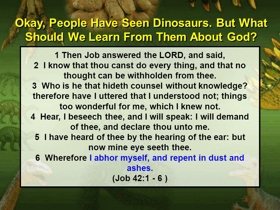Okay, People Have Seen Dinosaurs