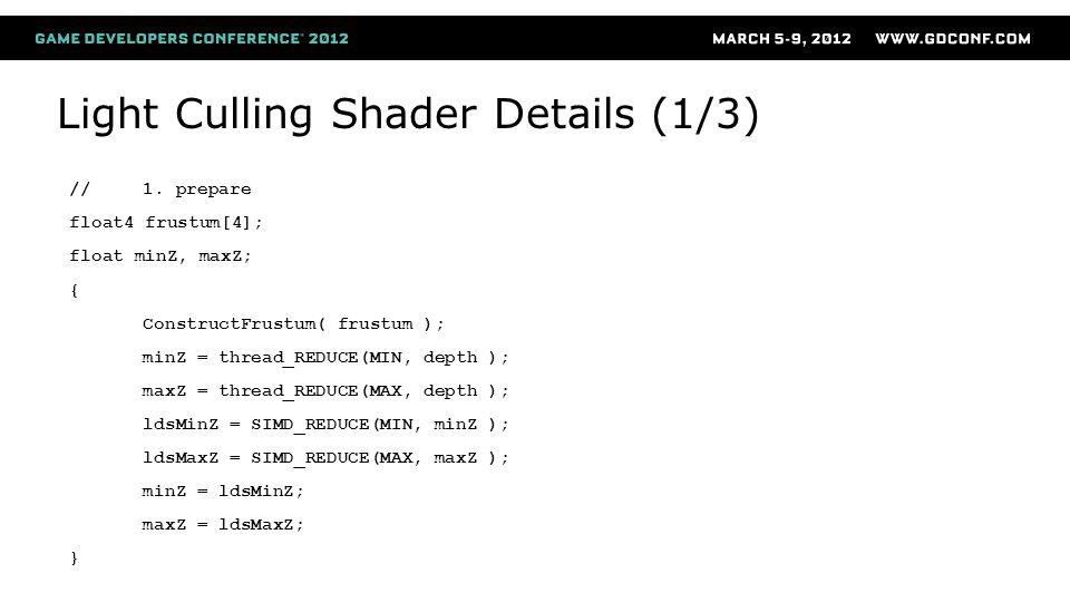 Light Culling Shader Details (1/3)