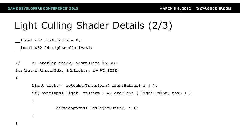 Light Culling Shader Details (2/3)