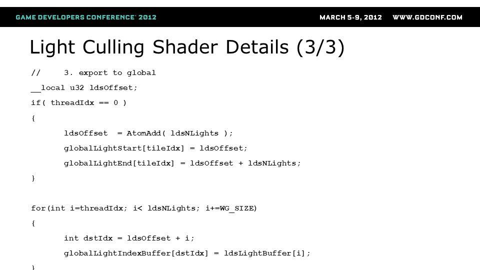Light Culling Shader Details (3/3)