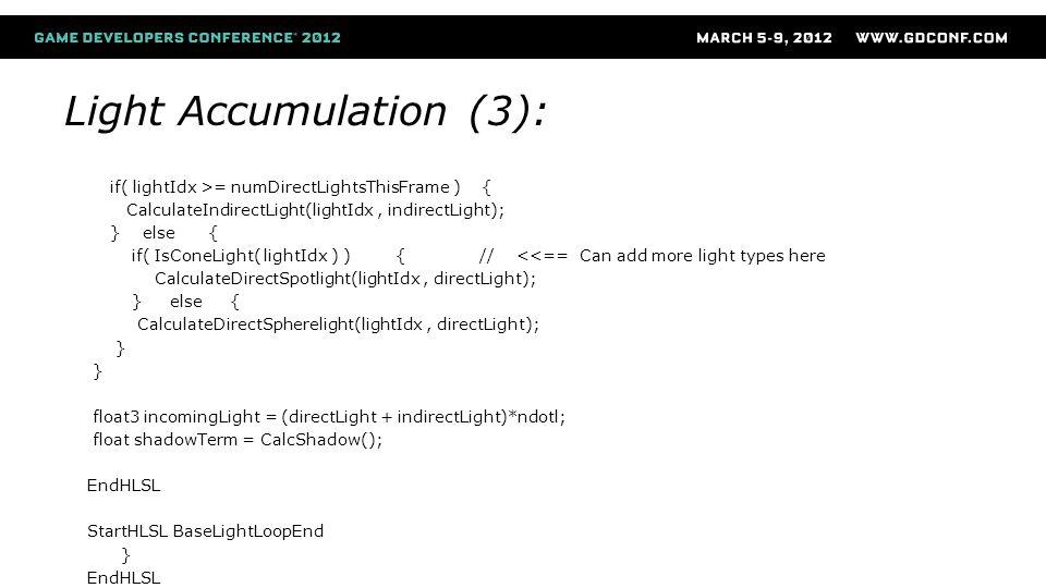 Light Accumulation (3):