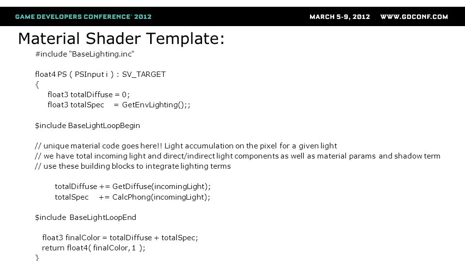 Material Shader Template: