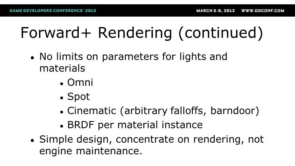 Forward+ Rendering (continued)