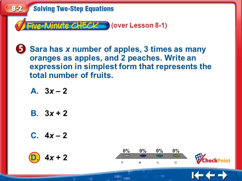 (over Lesson 8-1)
