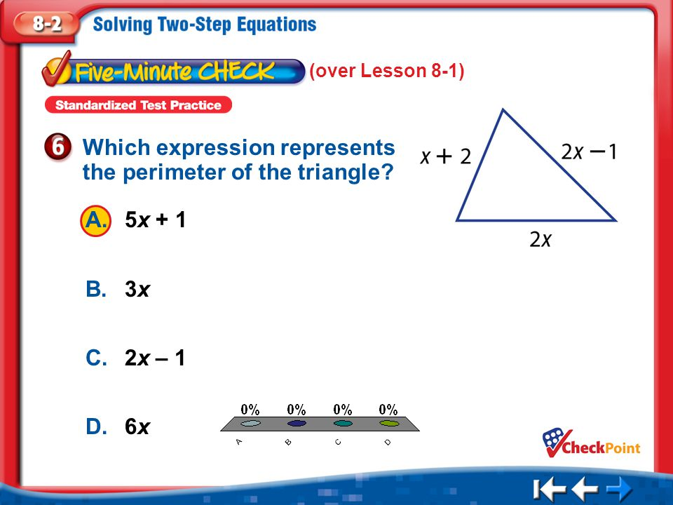 Which expression represents the perimeter of the triangle