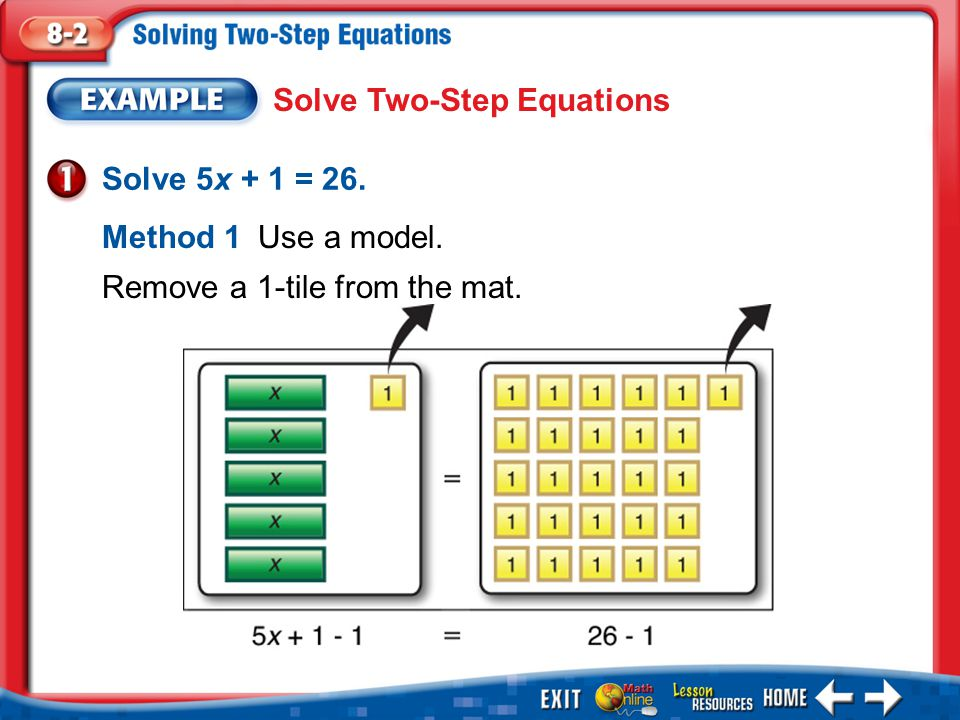 Solve Two-Step Equations