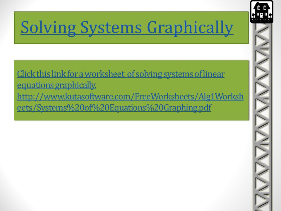 Solving Systems Graphically