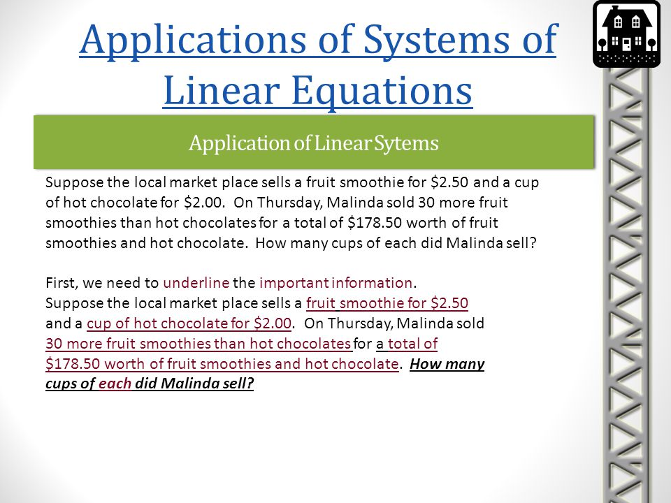 Application of Linear Sytems