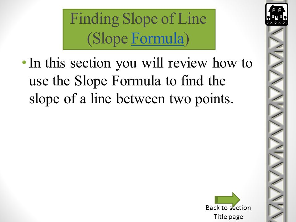 Finding Slope of Line (Slope Formula)
