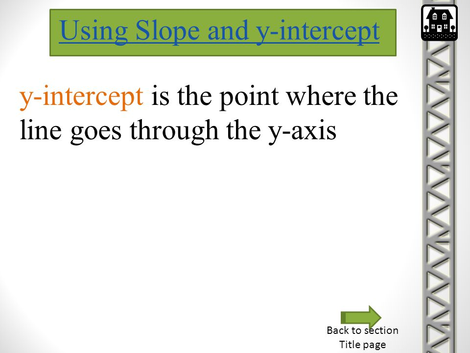 Using Slope and y-intercept