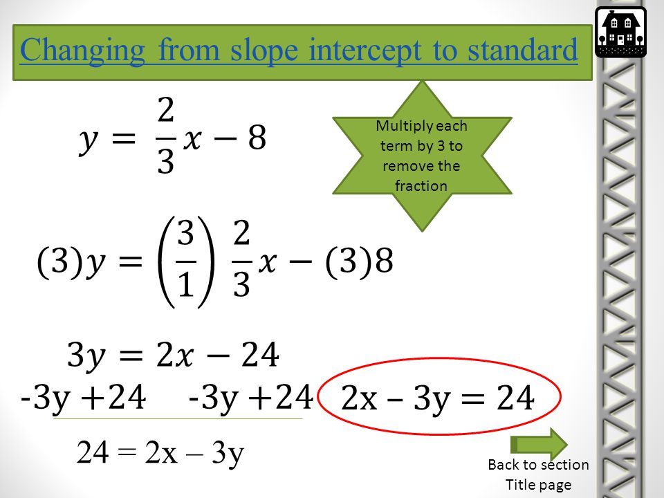 Multiply each term by 3 to remove the fraction