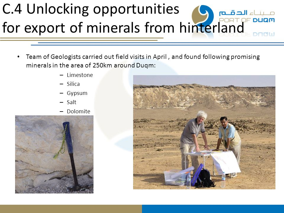 C.4 Unlocking opportunities for export of minerals from hinterland