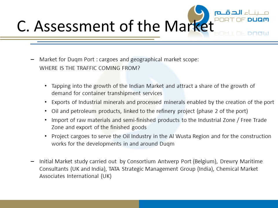 C. Assessment of the Market