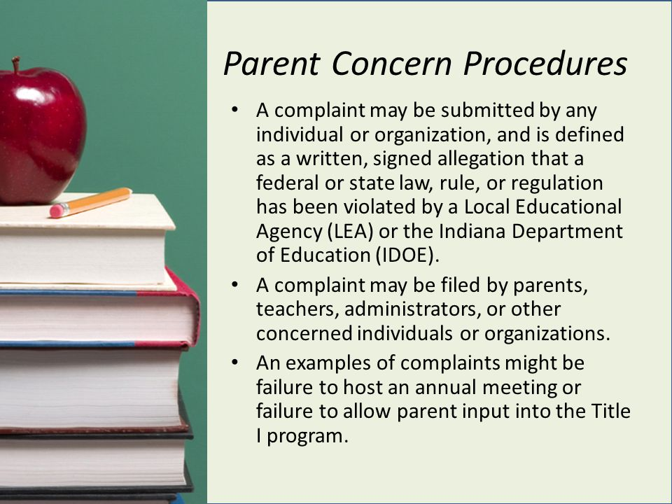 Parent Concern Procedures