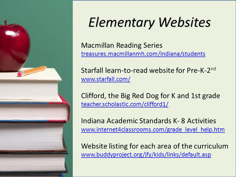 Elementary Websites Macmillan Reading Series