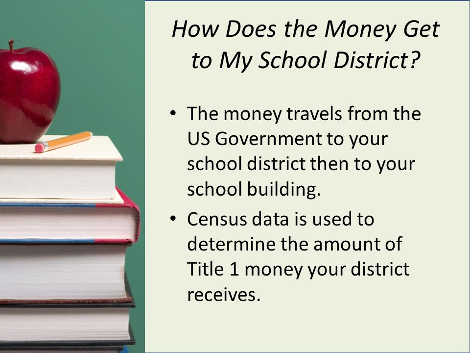 How Does the Money Get to My School District