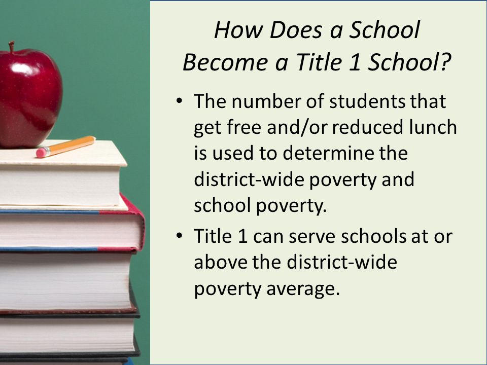 How Does a School Become a Title 1 School