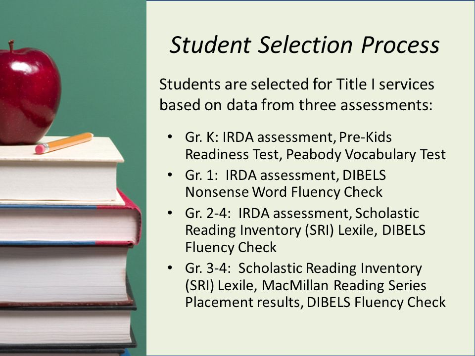 Student Selection Process