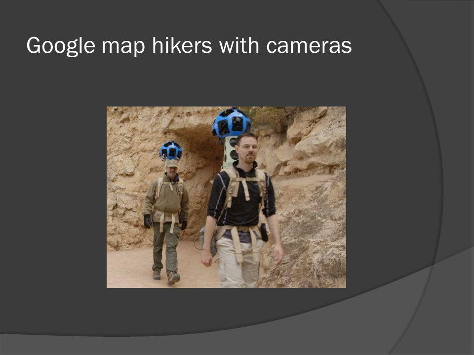 Google map hikers with cameras