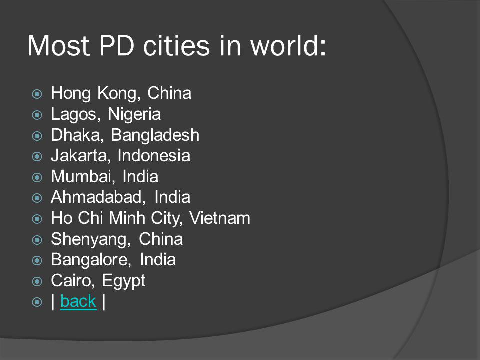 Most PD cities in world: