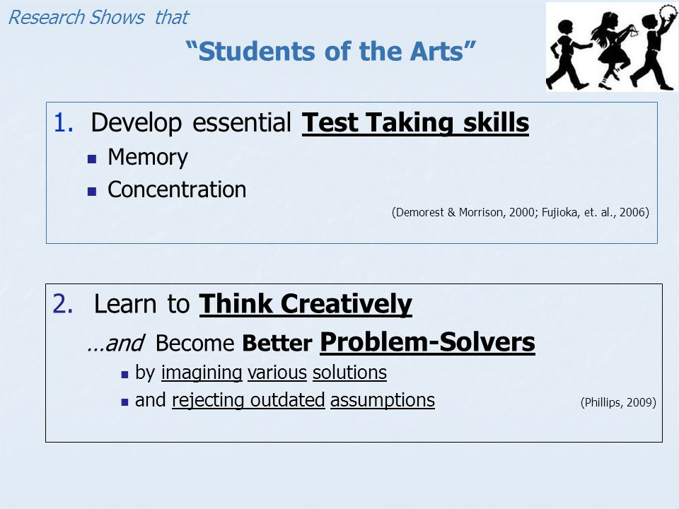 Develop essential Test Taking skills