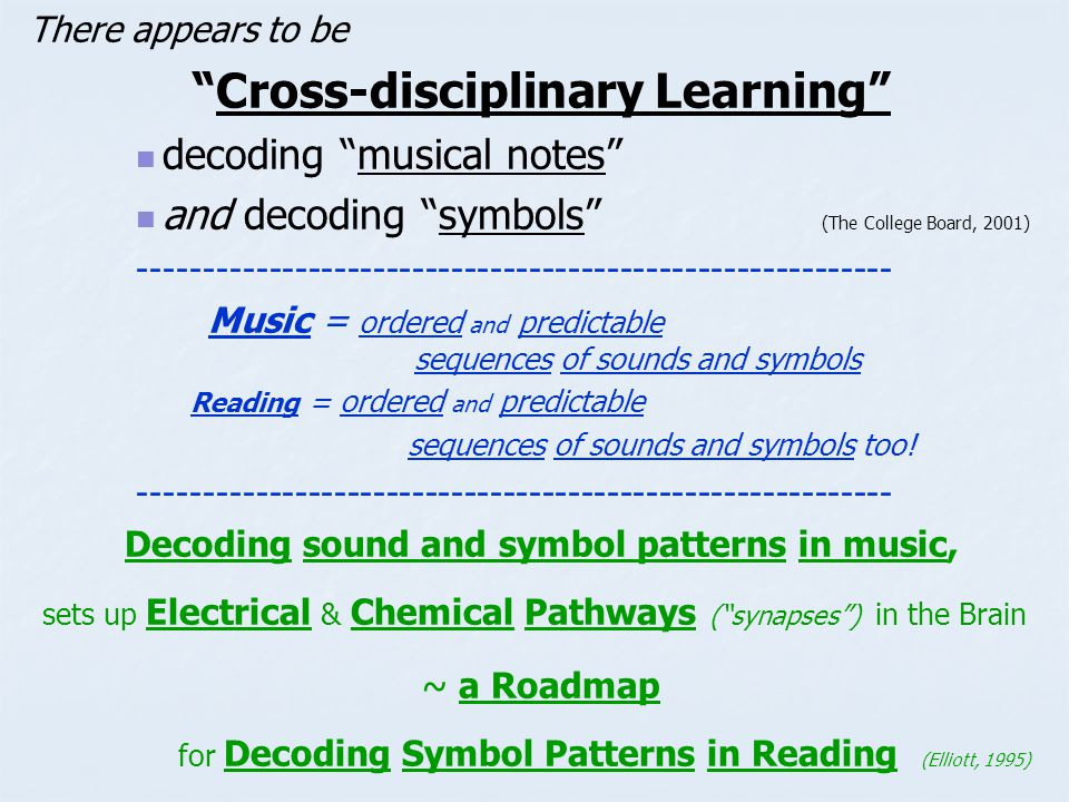 Decoding sound and symbol patterns in music,