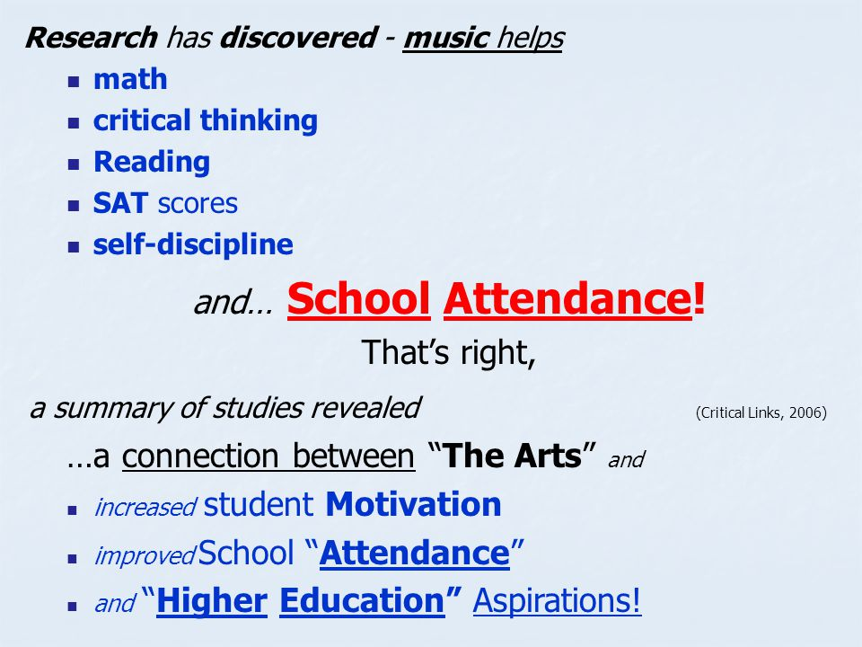 and… School Attendance!
