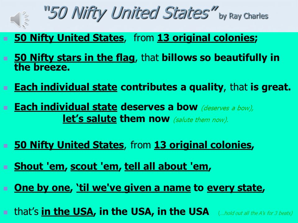 50 Nifty United States by Ray Charles