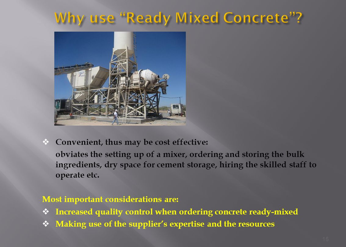 Why use Ready Mixed Concrete