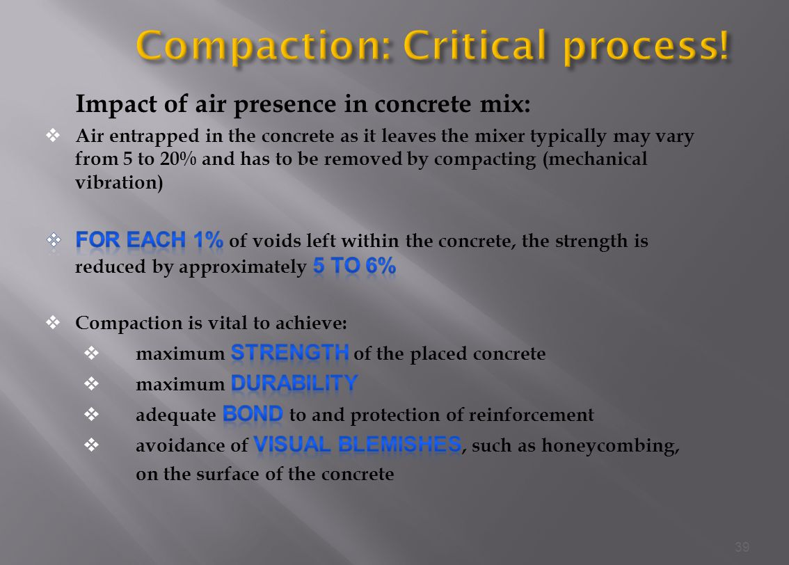 Compaction: Critical process!