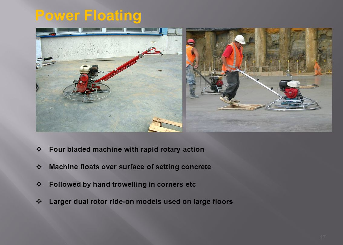 Power Floating Four bladed machine with rapid rotary action