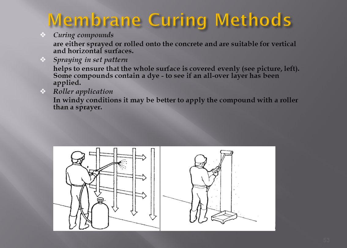 Membrane Curing Methods