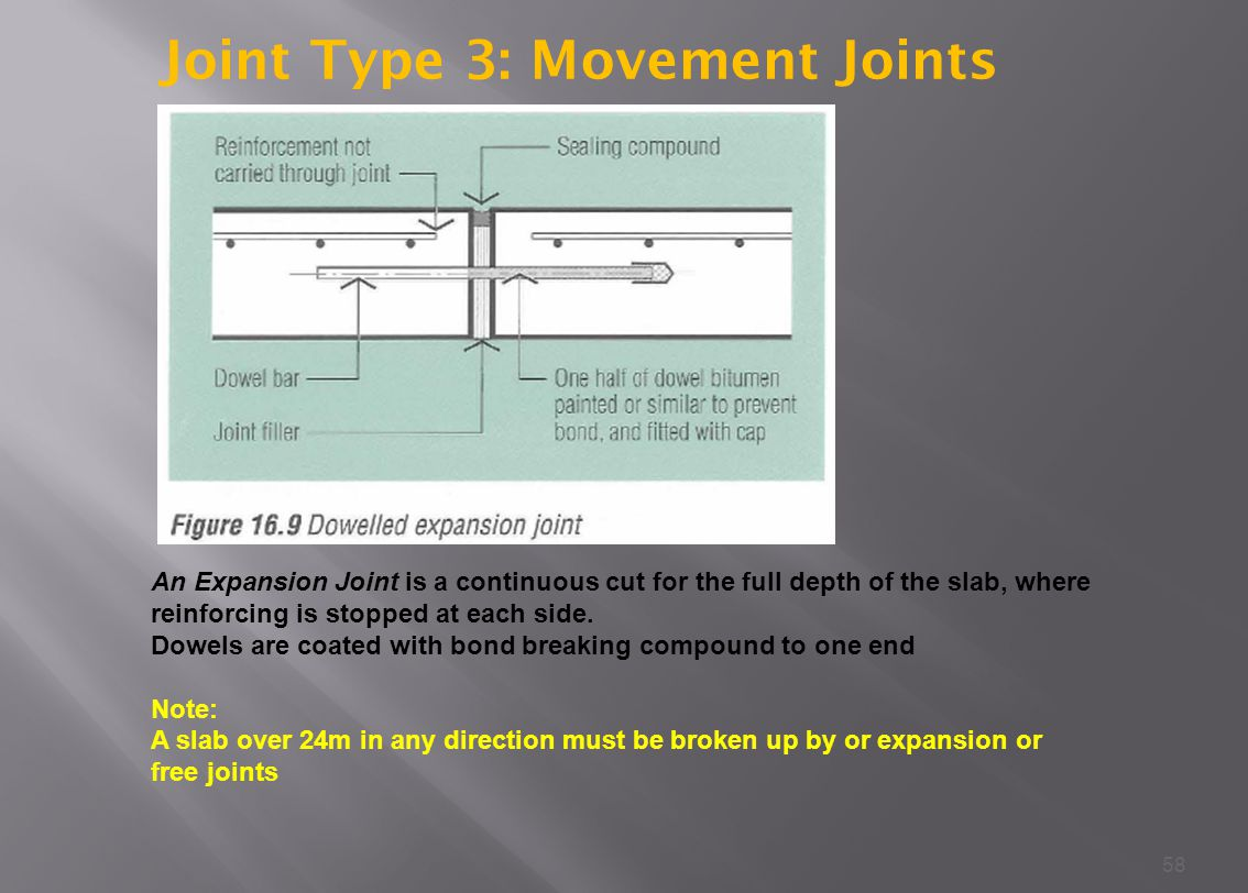 Joint Type 3: Movement Joints