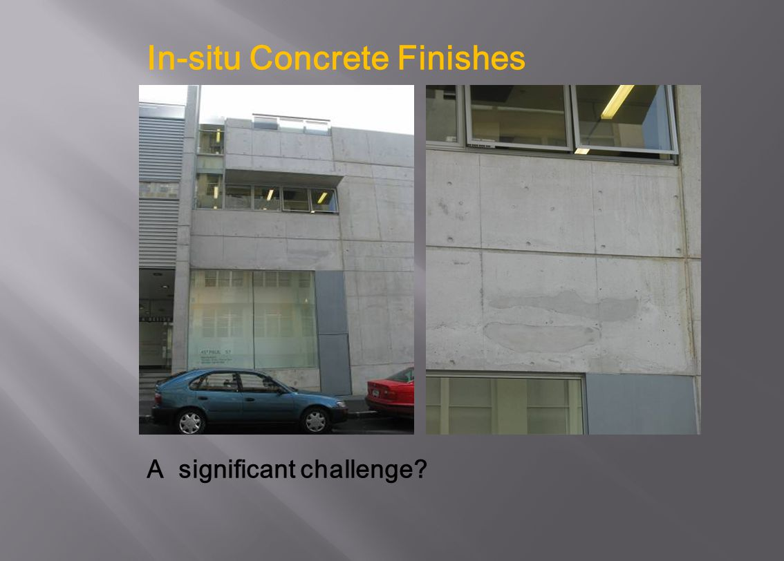 In-situ Concrete Finishes
