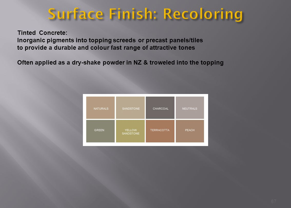 Surface Finish: Recoloring