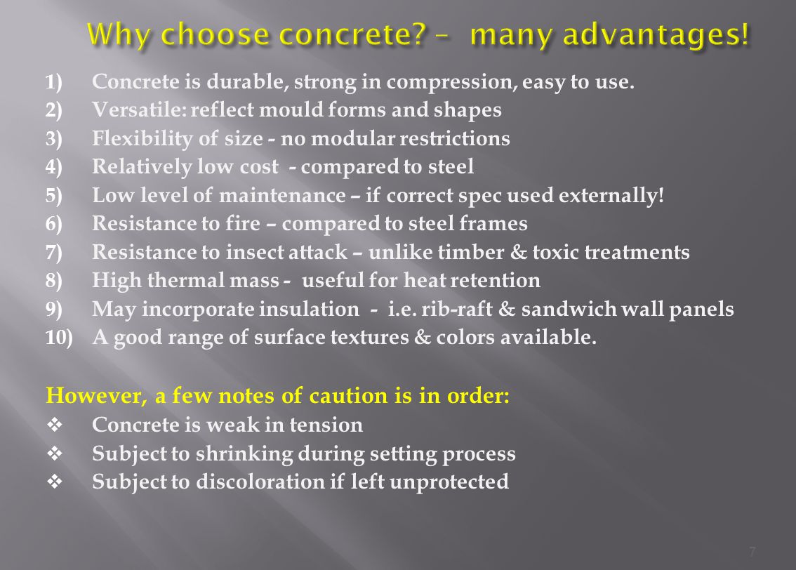 Why choose concrete – many advantages!