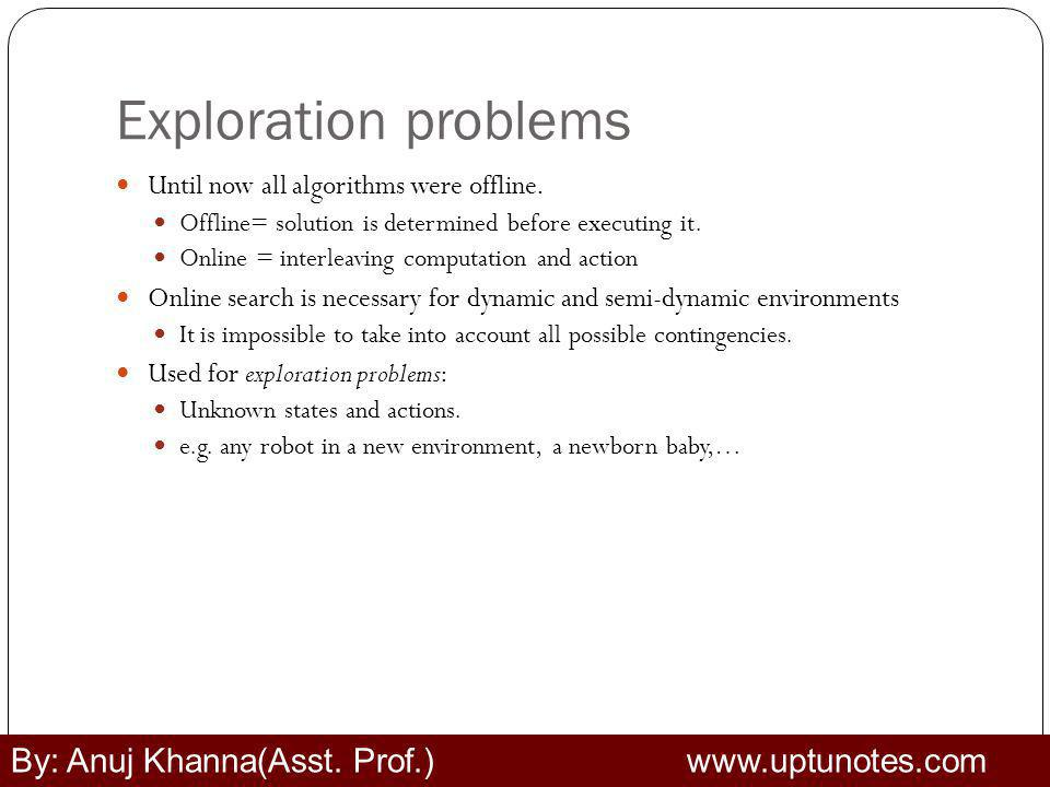 Exploration problems By: Anuj Khanna(Asst. Prof.) www.uptunotes.com
