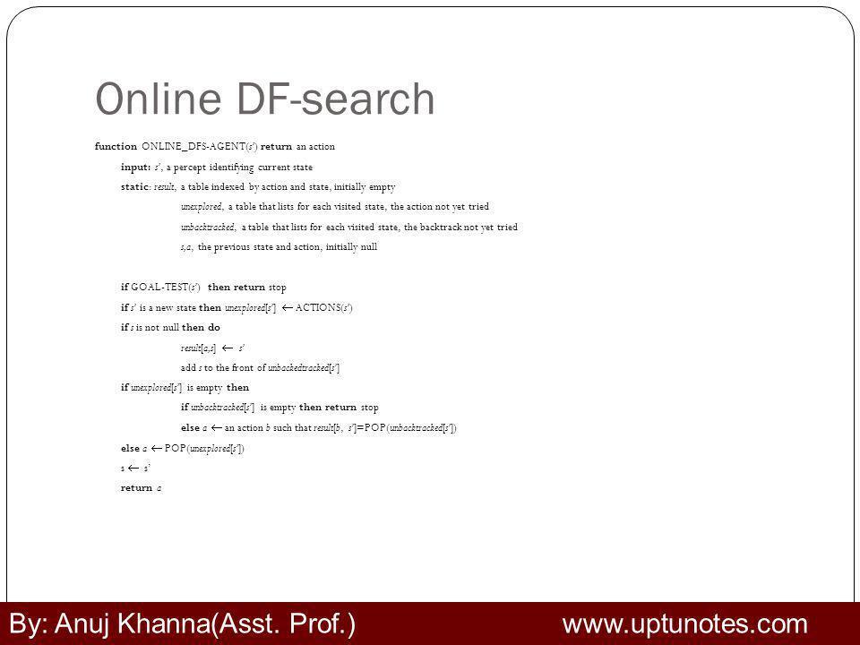 Online DF-search By: Anuj Khanna(Asst. Prof.) www.uptunotes.com