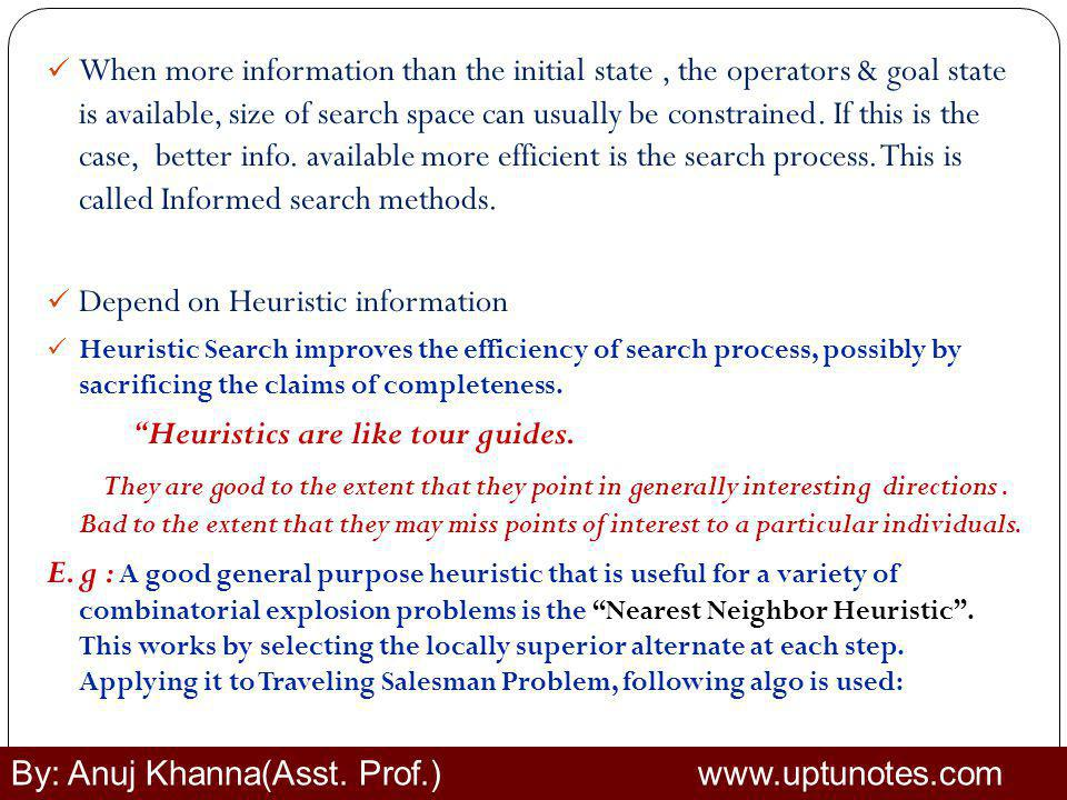 Depend on Heuristic information