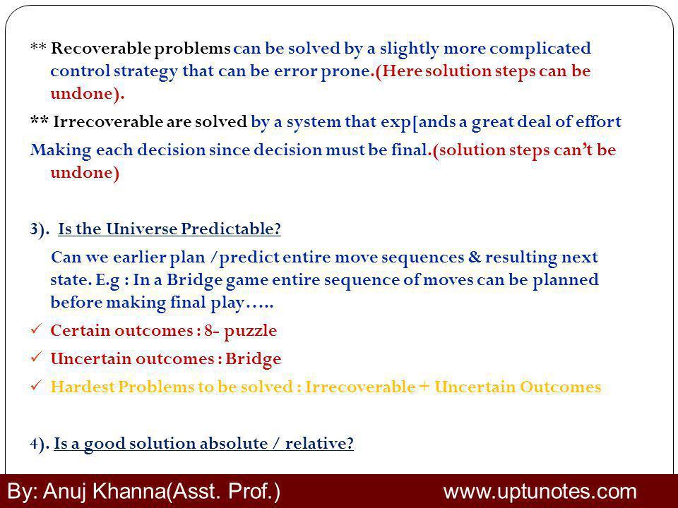 By: Anuj Khanna(Asst. Prof.) www.uptunotes.com