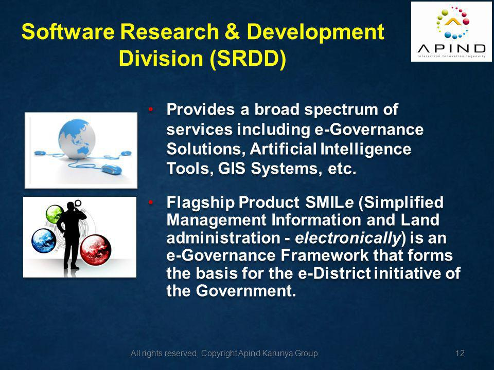 Software Research & Development Division (SRDD)