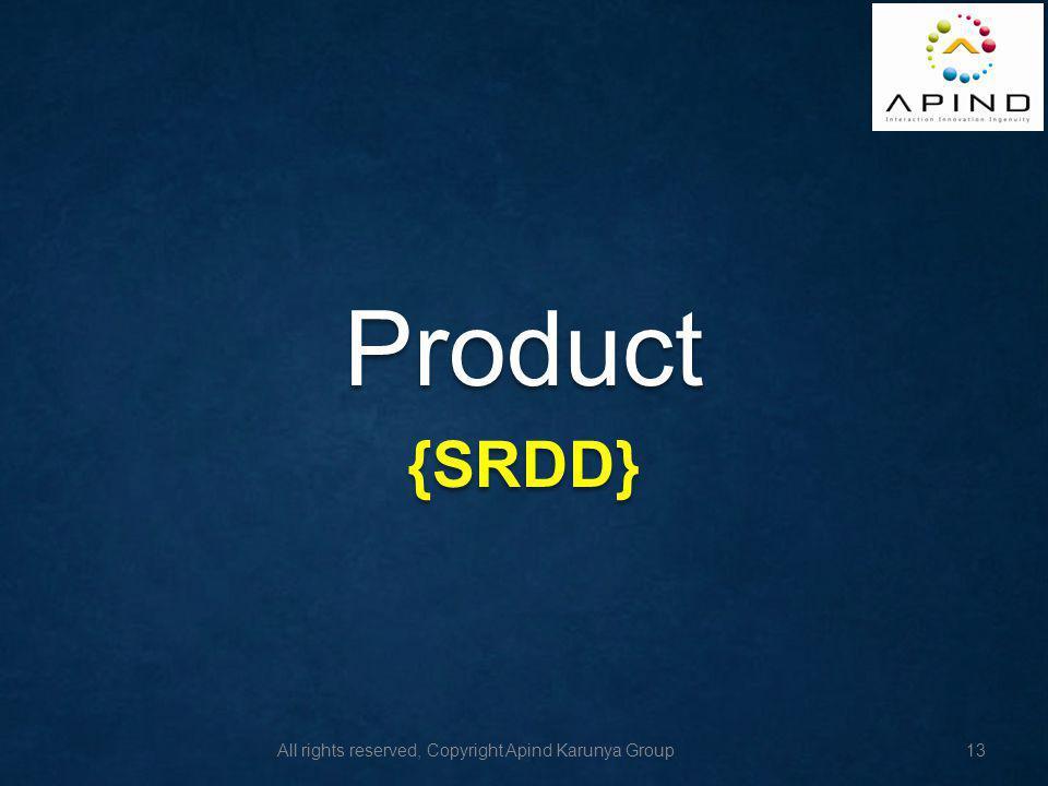 Product {SRDD}