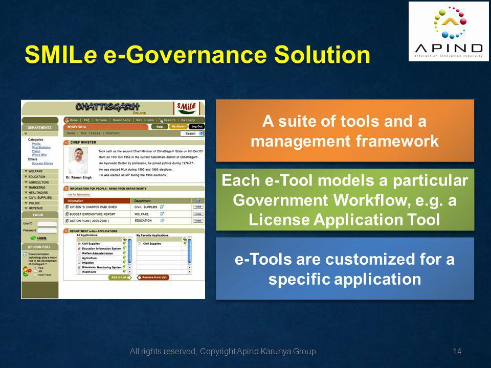 SMILe e-Governance Solution