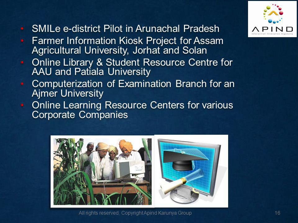 SMILe e-district Pilot in Arunachal Pradesh