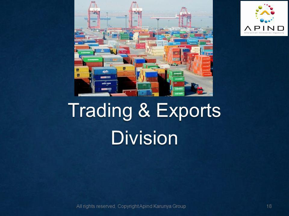 Trading & Exports Division