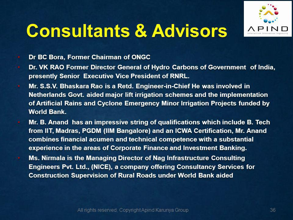 Consultants & Advisors